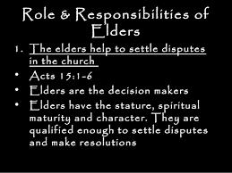 Elders Roles